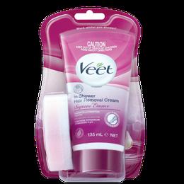 Veet® In Shower Hair Removal Cream For Sensitive Skin