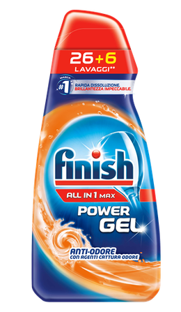 Finish Power Gel ALL IN 1 MAX Anti-Odore