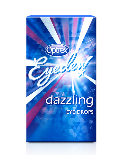 Use Optrex Dazzling Eye Drops, ideal for dazzling at parties