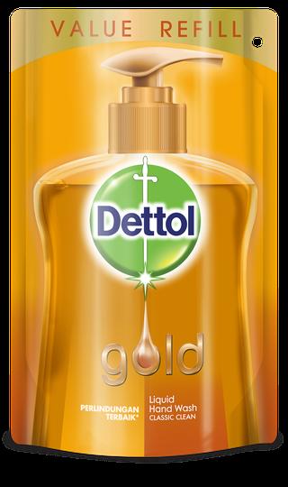 Sabun Cuci Tangan Anti Bakteri Dettol Gold Classic Clean (185ml)
