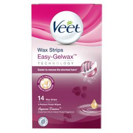 Veet Wax Strips Easy-Gelwax Technology Suprem'Essence Bikini & Underarm 14 strips