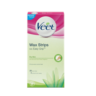 Veet® EasyGrip™ Ready-to-Use Wax Strips For Dry Skin