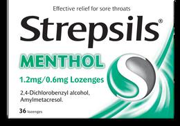 Strepsils Menthol 1.2mg/0.6mg Lozenges