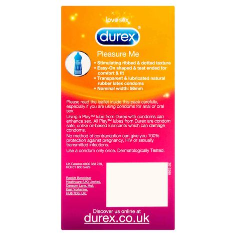 Durex Pleasure Me Condoms 12 Pack