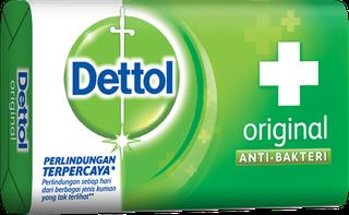 Sabun Anti Bakteri Dettol Original (4+1 105g)