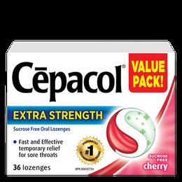 Cepacol Extra Strength - Sucrose Free Cherry