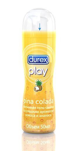 DUREX Play Pina Colada со сладким ароматом кокоса и ананаса Интимная гель-смазка 50мл