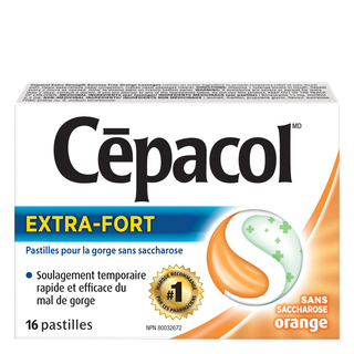 Cepacol extra-fort sans saccharose orange