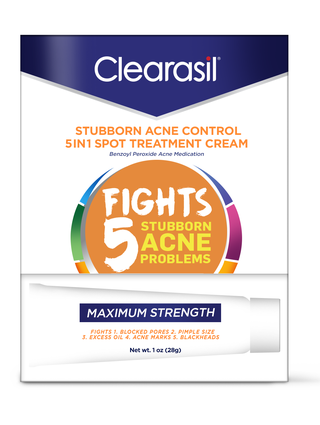 CLEARASIL® Stubborn Acne Control 5in1 Spot Treatment Cream 24/1 oz