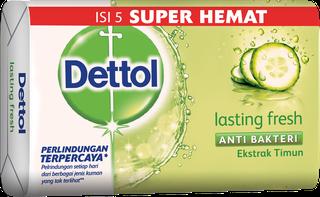Sabun Anti Bakteri Dettol Lasting Fresh (4+1 105g)
