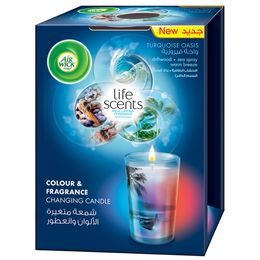 Life Scents Turquoise Oasis Color & Fragrance Changing Candle