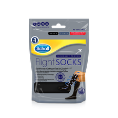 Scholl Flight Socks Black sizes 6.5 to 9