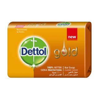 Dettol Gold Anti-Bacterial Bar Soap Classic Clean 120g