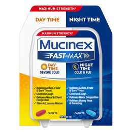 Maximum Strength Mucinex® Fast-Max® Day Severe Cold & Night Cold & Flu, Caplets