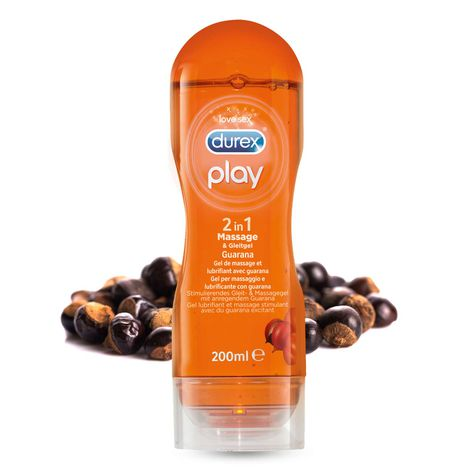 Durex Play 2in1 Massage und Gleitgel Guarana, 200ml