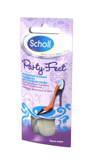 Scholl Невидимые гелевые подушечки для задников обуви, 2 штуки