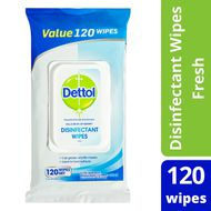 Dettol Antibacterial Surface Cleaning Wipes Fresh 120 Pack