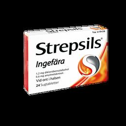 Strepsils Ingefära sugtabletter 24 st.