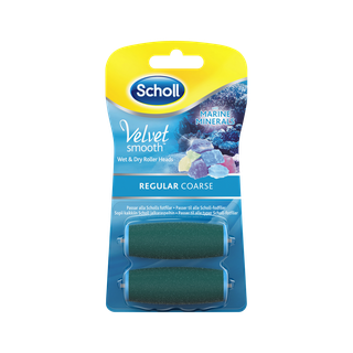 Scholl Velvet Smooth Refills med havsmineraler - Regular Coarse 2 st.