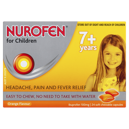 Nurofen for Childeren 7plus Soft Chewable Capsules 24s
