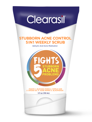 CLEARASIL® Stubborn Acne Control 5in1 Weekly Scrub 6/5 oz
