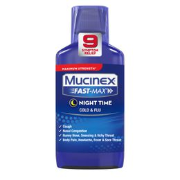 Maximum Strength* MUCINEX® Fast-Max® Night Time Cold & Flu (liquid)