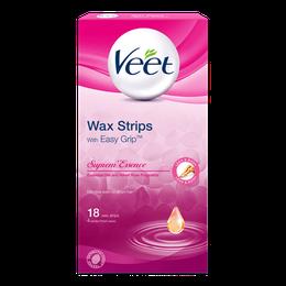 Veet® Suprem' Essence Wax Strips With Easy Grip™ - Legs & Body - Normal/Dry Skin