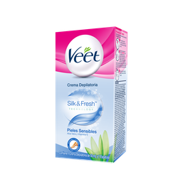 Crema Depilatoria Veet Silk & Fresh Technology Piel Sensible 50mL