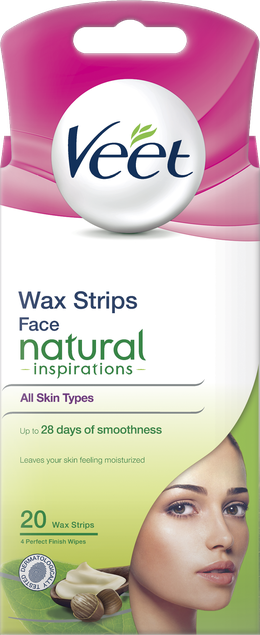 Veet Wax Strips for Face, Natural Inspirations, 20s
