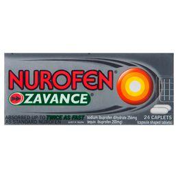 s 12s:  Nurofen Zavance Caplets 24s: 9300631742975 Nurofen Zavance Caplets 48s: Nurofen Zavance Caplets
