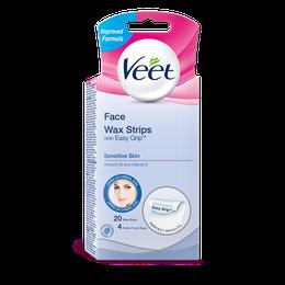 Veet® Easy-Gelwax™ Wax Strips Face, Bikini & Underarm