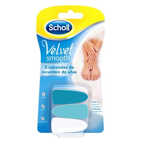 3 Cabezales de recambio de uñas Velvet Smooth™
