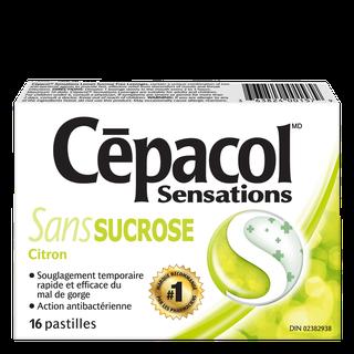 Cepacol sensations sans sucrose citron