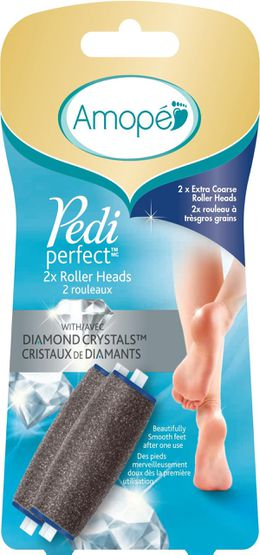 Amopé Pedi Perfect™ 2x Extra Coarse Roller Heads with Diamond Crystals