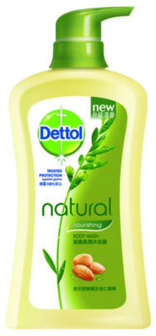 Dettol Natural Antibacterial Body Wash Caring