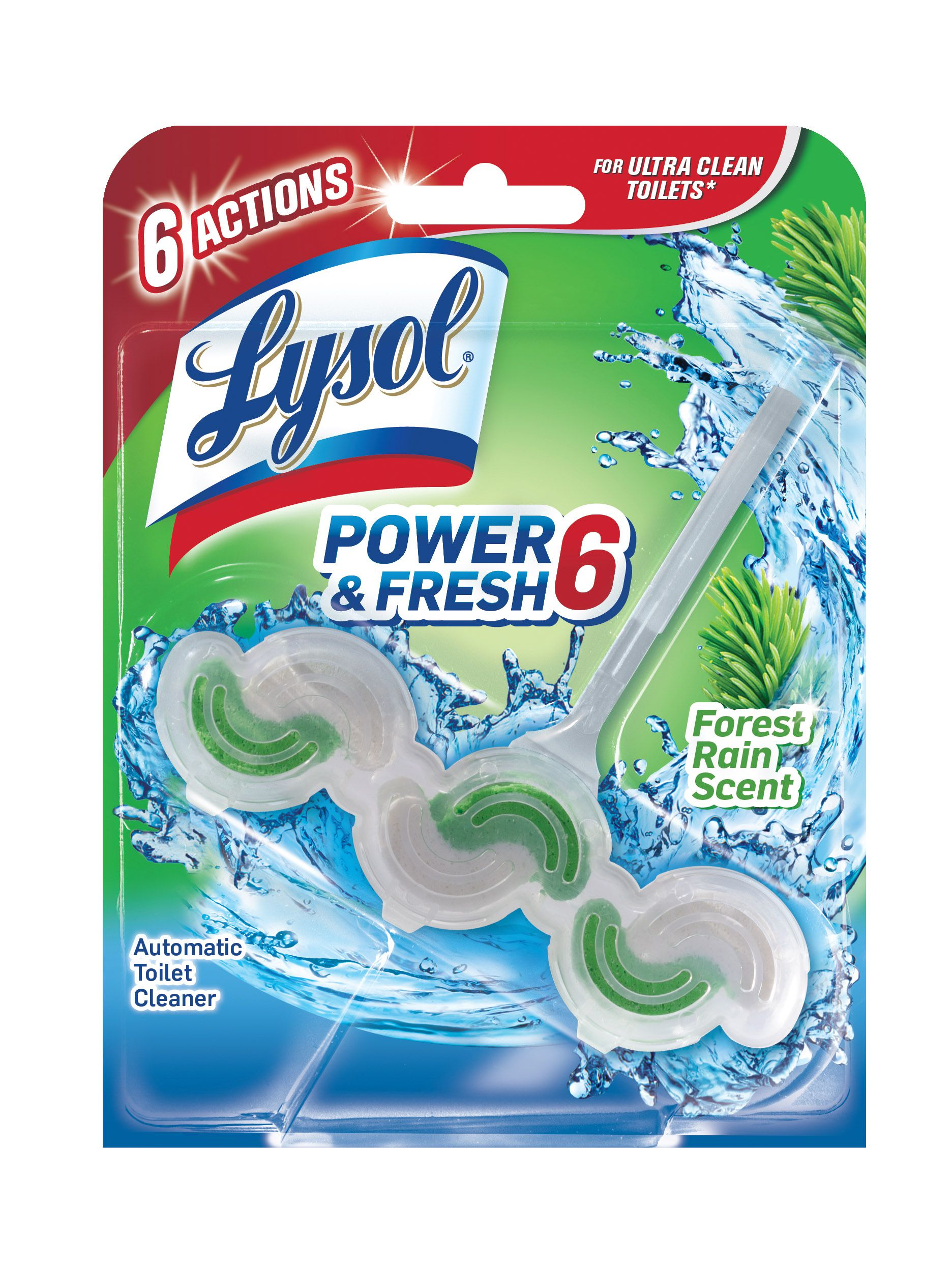 Lysol Power U0026 Fresh 6 Automatic Toilet Bowl Cleaner   Forest Rain