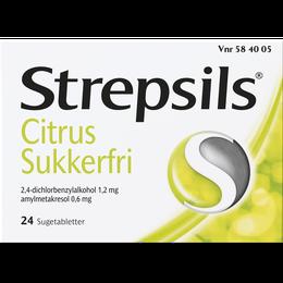 Strepsils Citrus Sukkerfri sugetabletter 24 stk.