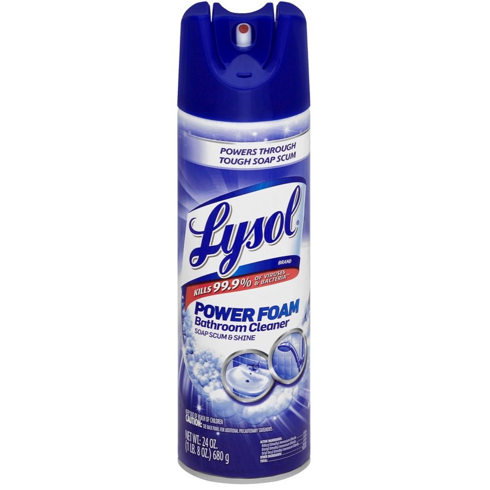 Lysol Power Foam Bathroom Aerosol Bathroom Mildew Remover Lysol - Bathroom mildew remover