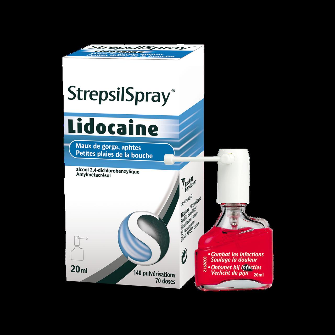 strepsilspray lidocaine et grossesse