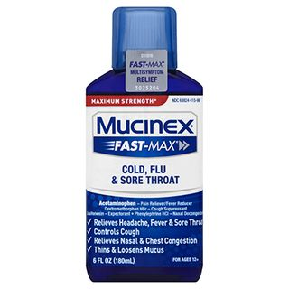 Mucinex® Fast-Max® Cold, Flu & Sore Throat Liquid