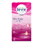Veet® Suprem' Essence Wax Strips With Easy Grip™ - Legs & Body - Normal/Dry Skin