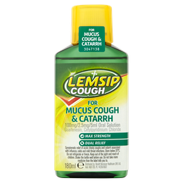 Lemsip Cough for Mucus Cough & Catarrh 100mg/2.5mg/5ml Oral Solution
