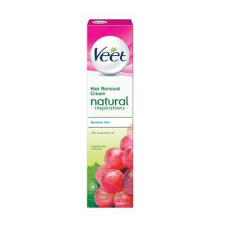 Veet Natural Inspirations Hair Removal Cream, Sensitive