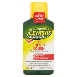 Lemsip Cough for Chesty Cough Liquid 180ml