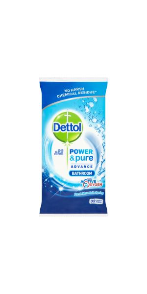 Dettol Power & Pure Advance Bathroom Wipes