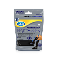 Scholl Flight Socks Black - Sizes 3-6