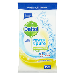 Dettol Power & Pure Citrus Floor Wipes - Citrus