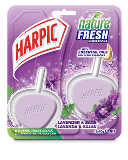 HARPIC ACTIVE FRESH HYGIENIC TOILET BLOCKS Lavender Duo