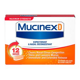 Maximum Strength Mucinex® D Expectorant and Nasal Decongestant Caplets