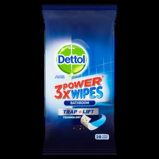 Dettol 3x Power Bathroom Wipes